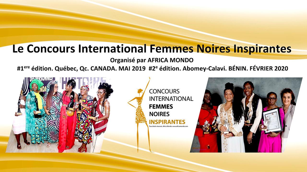 Concours International Femmes Noires Inspirantes