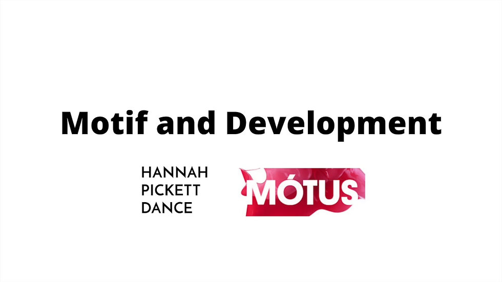Motif Development and Choreographic Devices-2
