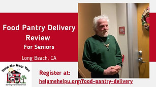 Food Pantry Delivery Review for Seniors Danny