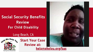 Social Security Child Benefits