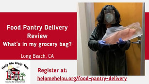 Food Pantry Delivery- What's in my grocery bag
