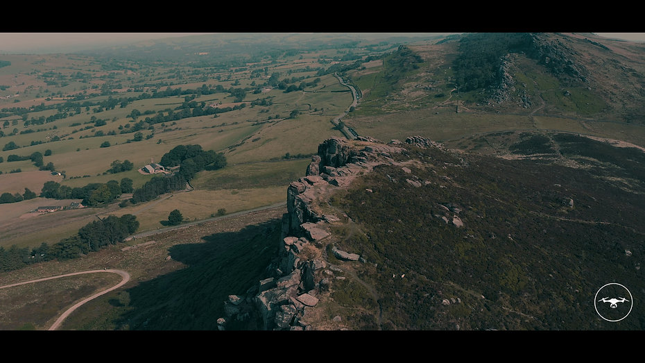 4K drone footage flying over the roaches.