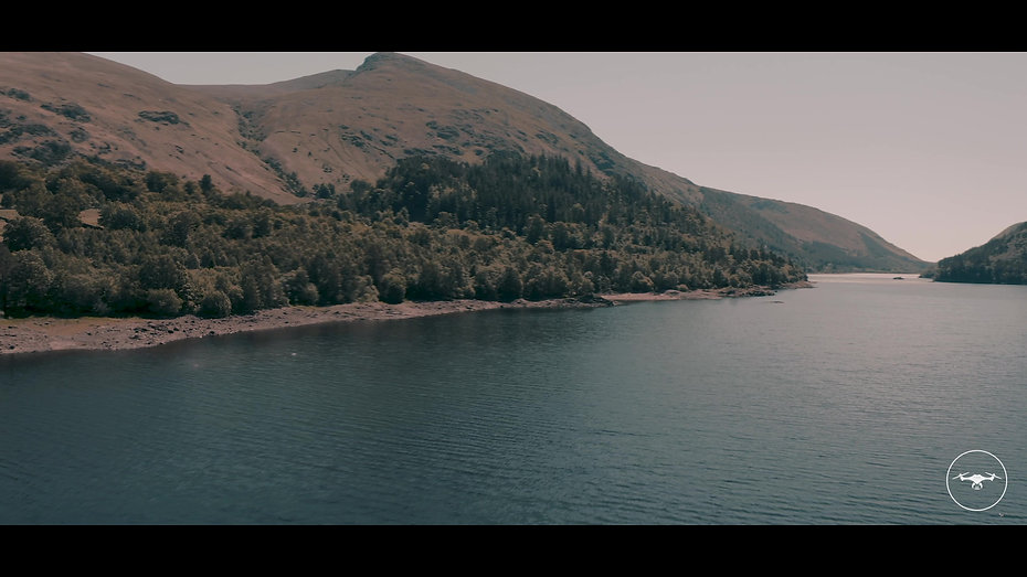 Drone videography of Thirlmere Reservoir, Lake District.