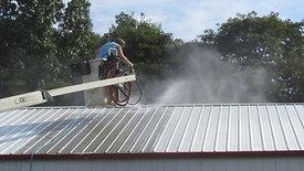 Power Washing a Metal Building