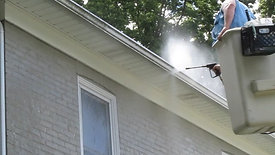 Power Washing Gutters