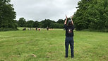 Catherine Russell completing challenge at Borde Hill