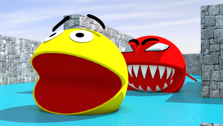 3D Animation with Pacman