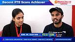 Recent PTE 61 Score_ Achiever _ Best PTE Institute
