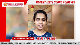 IELTS Coaching from Western Overseas _ 7.5 Band