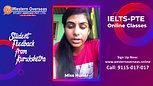 IELTS Online Classes - Student feedback from Kurukshetra