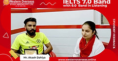 IELTS 7.0 Band - With 8.0 BAND in Listening _ Success Story _ Western Overseas