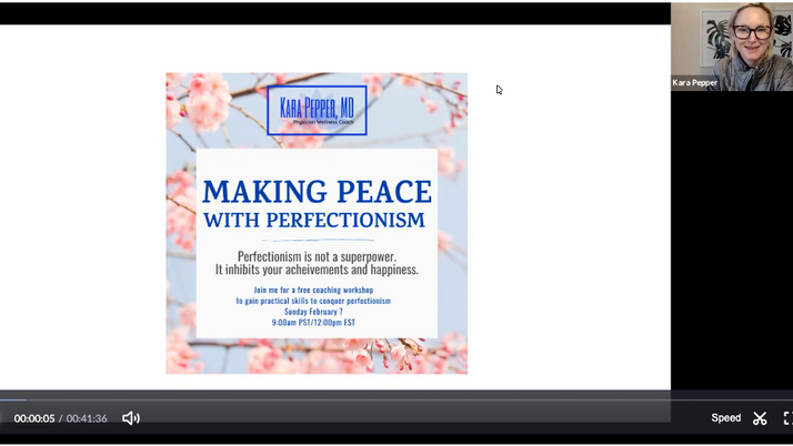 Making Peace with Perfectionism