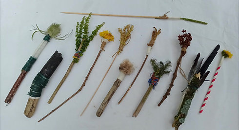 Making Paintbrushes from Nature