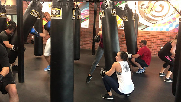 Partner Drills at 5:30 Boxing Class