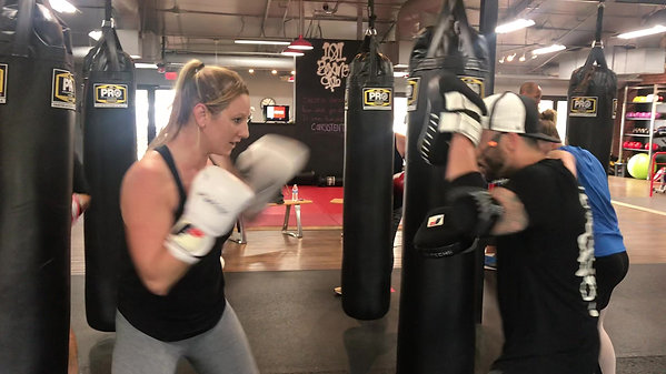 Mitts with Coach Derrick