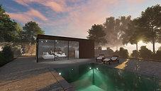 3d visualisatie poolhouse