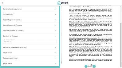 Documento legal en Qsmart