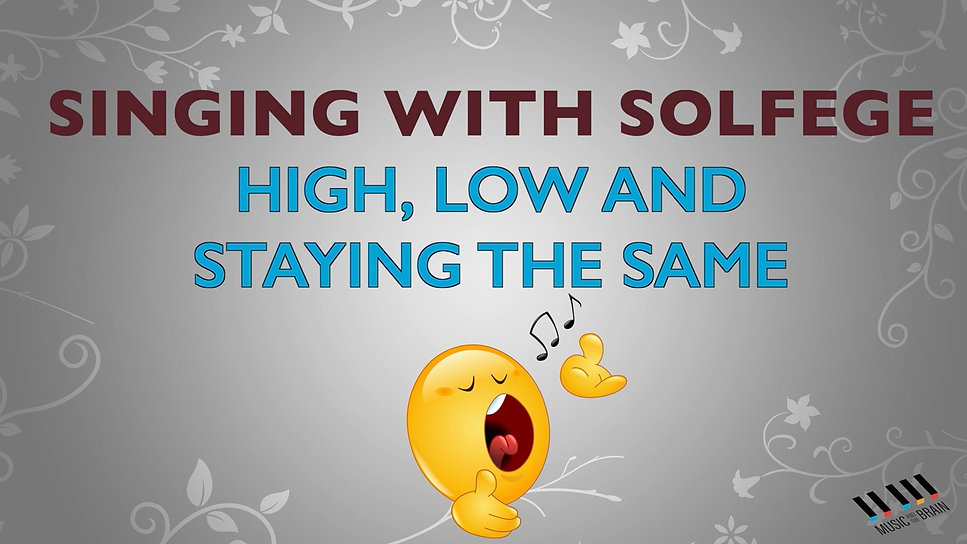 12. Singing with Solfege!
