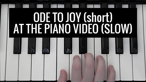 Ode to Joy short BK 1 slow Video - At the Piano