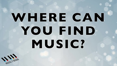 1. Where Can You Find Music_