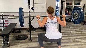 Wide Stance Back Squat