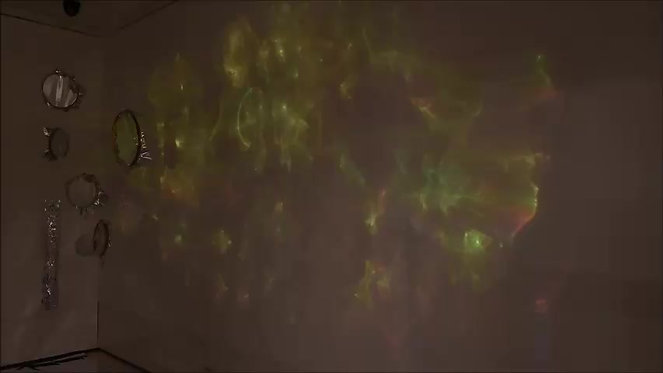 video of coloured projection