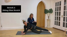 Back extension and Glute Stretch