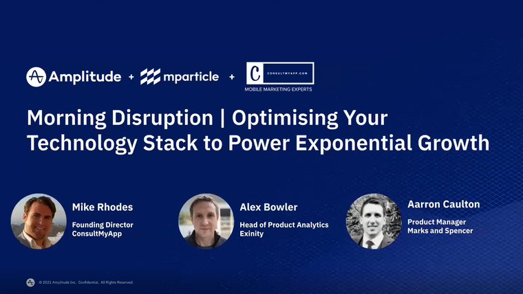 Morning Disruption - Optimising Your Technology Stack to Power Exponential Growth