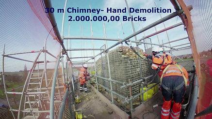 30 m Chimney Hand Demolition