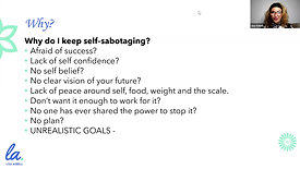 *Self-Sabotaging: Get Out of Your Own Way & Lose the Weighting