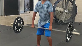 Hassan's First Session Clean and Jerk