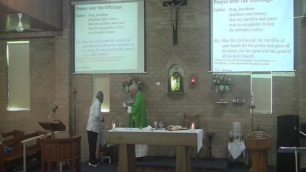 Sunday 11th October Mass