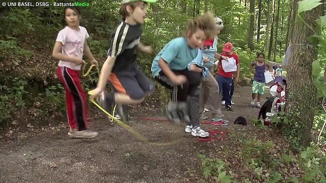 Sporttag im Wald