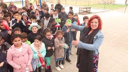 17-10-2019 Basisschool 't Ateljeeke maakt lawaai voor de strijd tegen armoede!