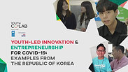 Young Korean Entrepreneurs innovative solutions to COVID-19 - USPC & Youth Co:Lab