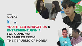 Young Korean Entrpreneurs innovative solutions to COVID-19 - USPC & Youth Co:Lab