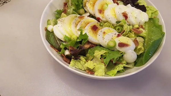 Bacon Egg Salad with Warm Butter Dressing