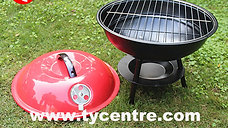 DS-21, three legs steel BBQ in small apple design.