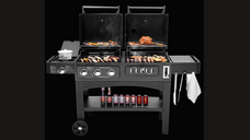3-in-1 Steel BBQ smoker BBQ Grill (GC-4158)