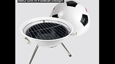 DS-23,steel charcoal BBQ stand in football design