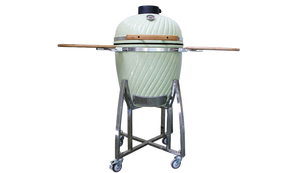 "20"" stainless steel cart ceramic grill."