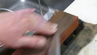 柳刃包丁(片刃)の研ぎ