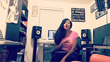 Rochelle at her Home Studio