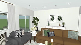 Model Home Dining, Living and California Room Design Concept