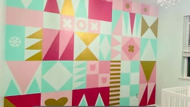 Nursery Accent Wall - Its A Small World