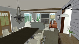 Entry, Family and Kitchen Remodel Design Concept