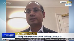 China Global Television Network Interview regarding UK India trade discussion