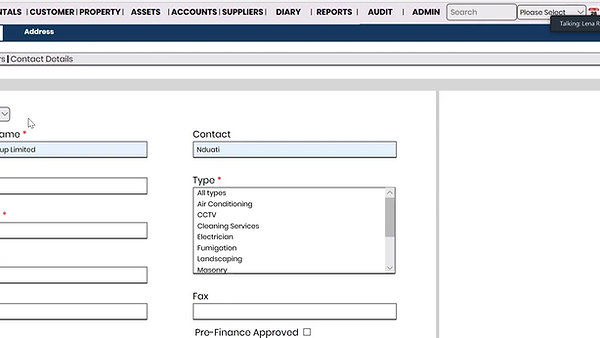DGM Property and Asset Management System - Processing Suppliers