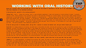 Video 13 Oral history