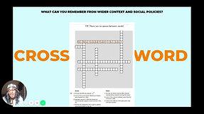 Video 9 crossword